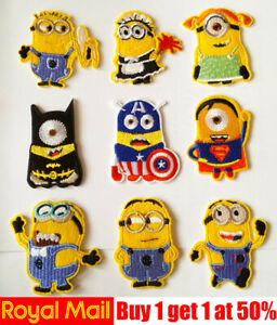 Minions-Kid-Cartoon-Patch-Badge-Iron-On-Sew-On