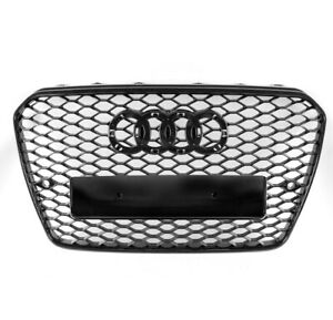FRONT MESH RS5 STYLE BUMPER HOOD HEX BLACK GRILLE FOR 2013 ...