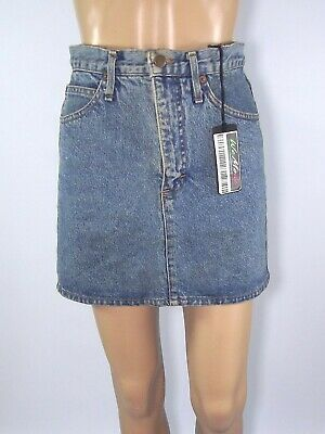 Americanino Gonna Corta Jeans Blu Denim Vintage Dritto Taglia It 43 W 29