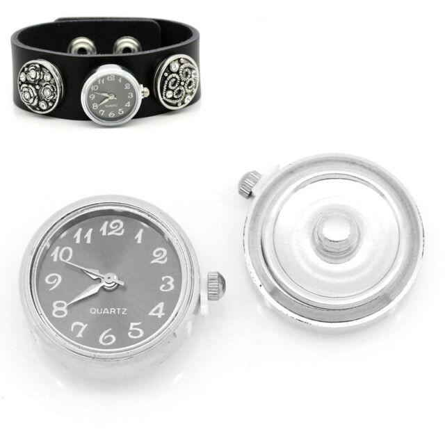 5 Druckknopf Uhr Clicks Klicks Snap Buttons Uhr Schwarz