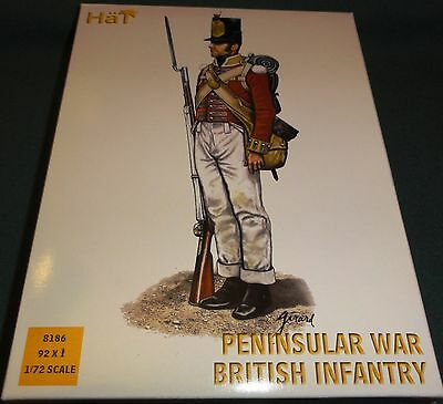 Hat Napoleonic British Infantry Penninsular War 1/72 MIB #8186