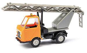Busch-Mehlhose-210003403-Multicar-M22-With-Ladder-Orange-Model-1-87-H0