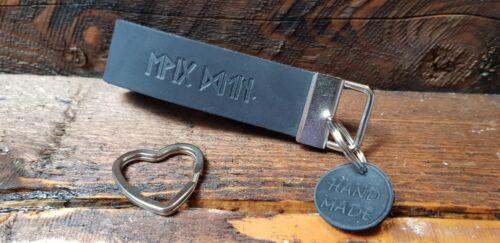 Schlüsselanhänger individuell EWIG DEIN runisch Runen Leder Liebe Love 4U immer