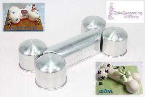 3D-Novelty-Cake-Baking-Tins-Pans-Dog-Bone-Cake-Shape-3-034-Deep