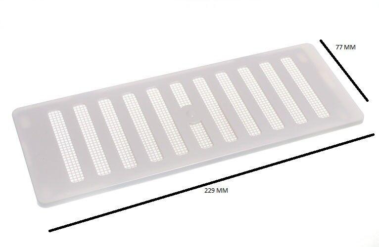 Verstellbar Entlüfter + Fliegengitter für Öffnungen bis zu 9 X 3 229mm 76mm