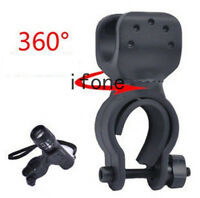 360°Cycling Bicycle Bike Mount Holder For LED Flashlight Torch Clip Clamp Light