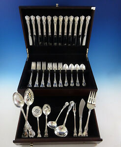 Old-Master-by-Towle-Sterling-Silver-Flatware-Set-For-12-Service-56-Pieces