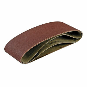 5 x Triton 76mm x 533mm Fine 180 Grit Aluminium Oxide Premium Sanding Belts