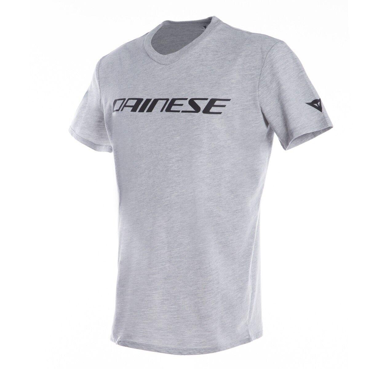 Leisure Motorcycle T-Shirt Dainese Logo in Grey Merchandising New