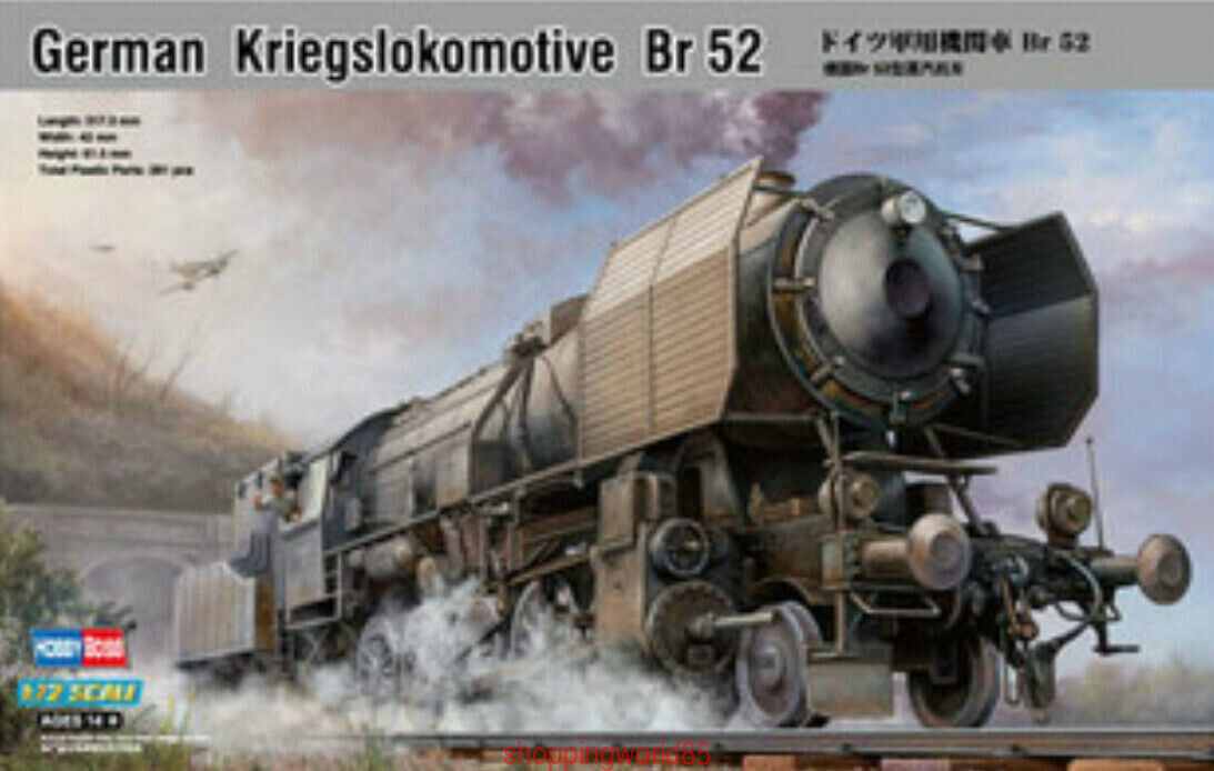 Hobbyboss 1 72 82901 German Kriegslokomotiv​e BR52 plastic model kit