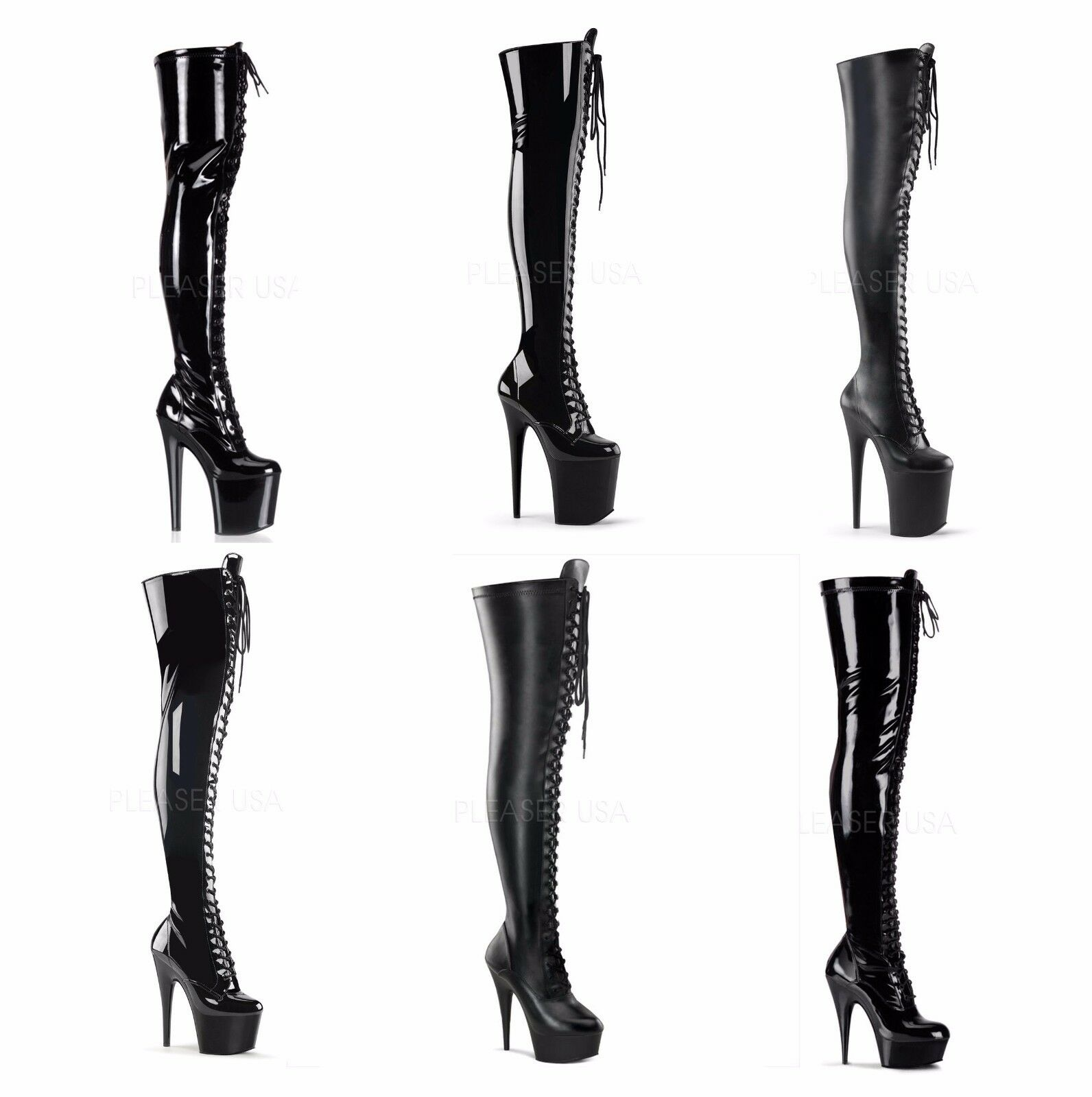 Pleaser ADORE DELIGHT 3023 sexy Platform Thigh High Boots
