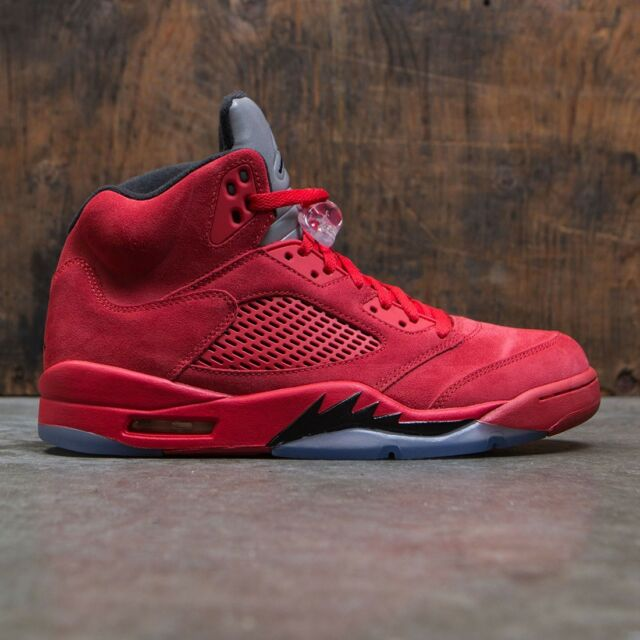 on sale f2c6c 3f3cb 2017 Air Jordan 5 Retro Red Suede 136027602 Sz. 9 SH K9