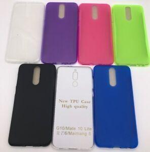 Funda-Silicona-Huawei-Mate-10-Lite-protector-cristal-templado-opcional