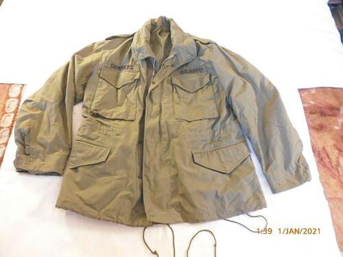 M-65 jacket COAT MAN'S FIELD with HOOD SATEEN OG10