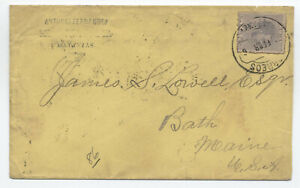 1886-Matanzas-cover-to-Bath-ME-NY-paid-all-y4708