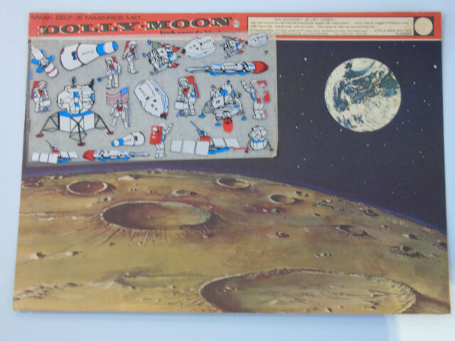 DOLLY MOON - Make your own moon trip - like Letraset Action Transfers (Dutch)