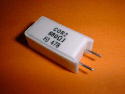 10x 680 Ohm 2 vatios CMOS mox resistencia cor2