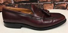 Allen Edmonds Wingham Burgundy Leather Tassel Loafer Slip On Shoes Sz 8.5 E Wide