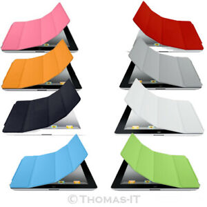 Apple-iPad-2-3-4-iPad-Air-iPad-Mini-Folio-Smart-Case-Cover-en-Cuir-PU