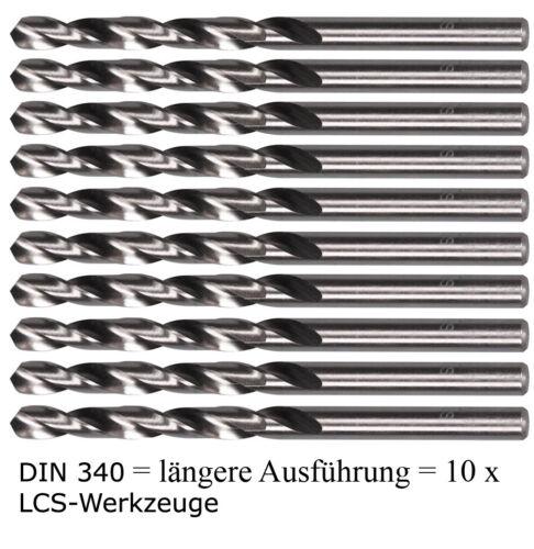 10 x DIN 340 HSS-G Spiralbohrer 4,8 mm Metallbohrer HSSG geschliffen EXTRA LANG