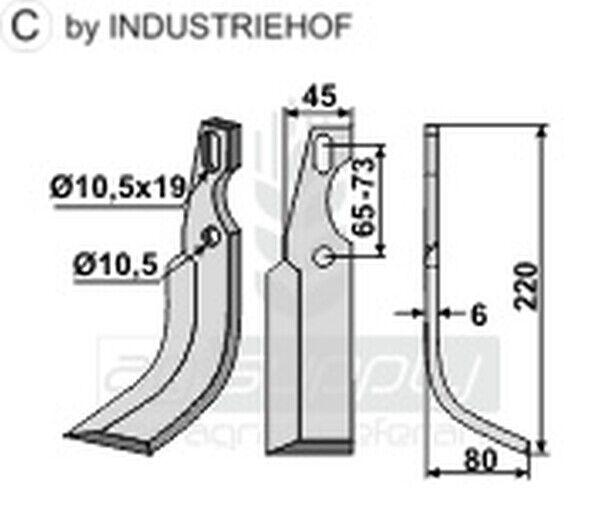 10er Set  Universal Fräsmesser rechte Ausführung BEN-50R