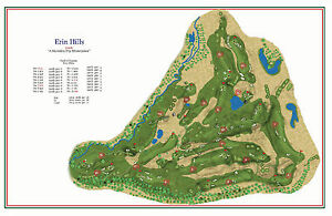 Erin Hills 2006 Hurzdan Fry Site 2017 US Open A Vintage - Us Open Course Map