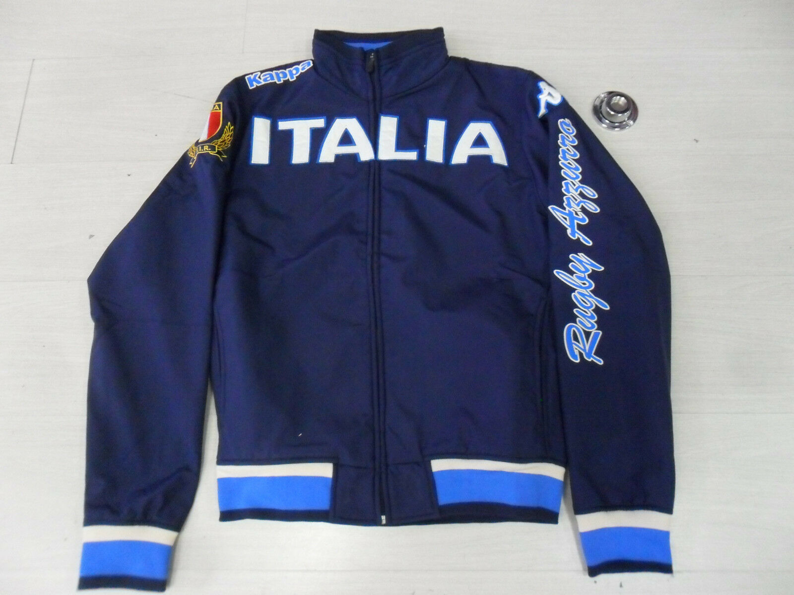 0857 TG. S ITALIA RUGBY GIACCHETTO ZIP EROI JACKET FULL ZIP TOP GIACCA FIR