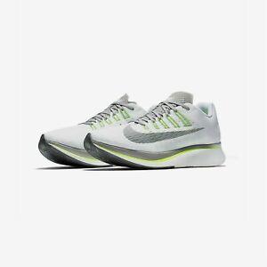 Nike-Zoom-Fly-Shoes-Men-039-s-Size-14-White-Gunsmoke-Atmosphere-Grey-880848-101