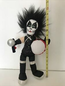 KISS Band PETER CRISS 2002 Plush Doll Toy Works