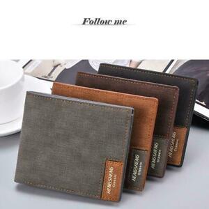 Men-039-s-Leather-Slim-Bifold-Credit-ID-Card-Holder-Soft-Wallet-Purse-Sale-Bill-M0Q0