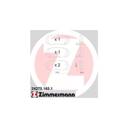 Zimmermann plaquettes De Freins Devant Hyundai i10 i20 kia picanto