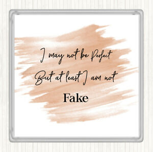 Watercolour I May Not Be Perfect Quote Drinks Mat Coaster Ebay