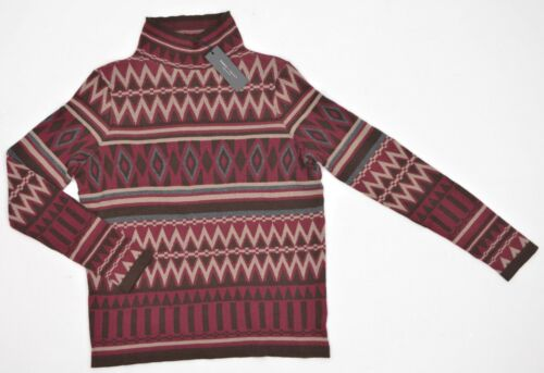 Romeo /& Juliet Couture Long Sleeve Mock Neck Sweater Port Combo Cotton NEW 6395