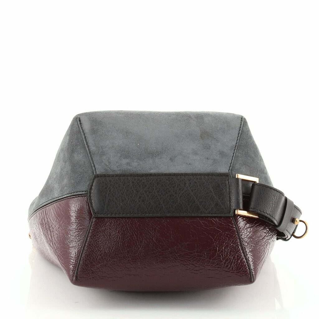 Givenchy GV Bucket Bag Leather and Suede Medium  | eBay