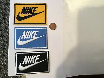 """Nike  Logo// Emblem Embroidered Iron On Patches PATCH LOT 3.3/"""" x 2.1/"""" 2"""