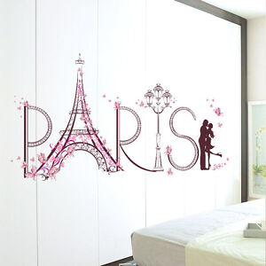 Image Is Loading Diy Home Wall Sticker Paris Eiffel Tower