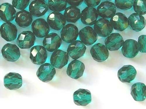 20 Verde Teal Cristal checo fuego pulido Beads 8mm 5072