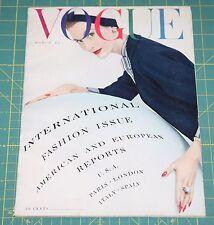 March Vogue 1953 Rare Vintage Vanity Fair Fashion Design Collection Magazine