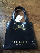 TED Baker Black Crystal Bow Small Icon Bag NEW