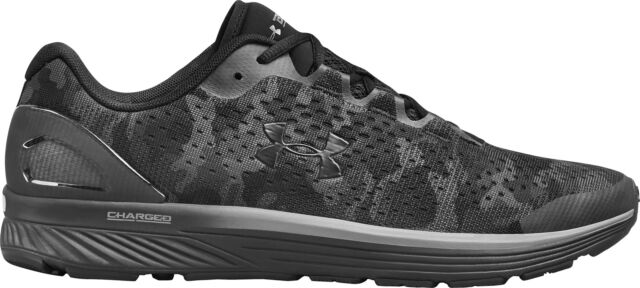 outlet store 096b9 062dc Under Armour Charged Bandit 4 Mens Running Shoes Black Camo Graphic  Trainers UA