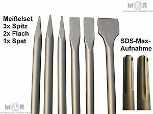 6-SDS-MAX-Ciseau-Burin-plat-burin-pointu-Burin-beche