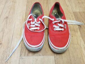 Uk Escarpins Vans Enfants 5 Rouge Baskets Enfants 2 Taille Euro Chaussures Dentelle Junior 34 En wBFdfxFqI
