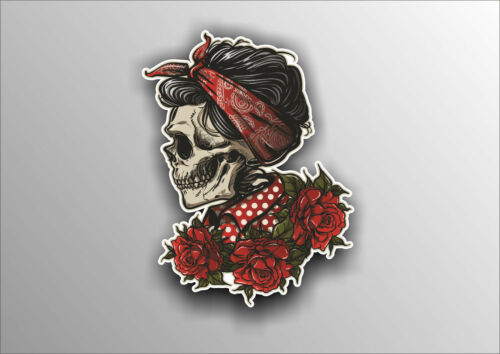 Sugar Skull Vinyl Sticker Decal Mexican Spanish Car Bike Van #a0011