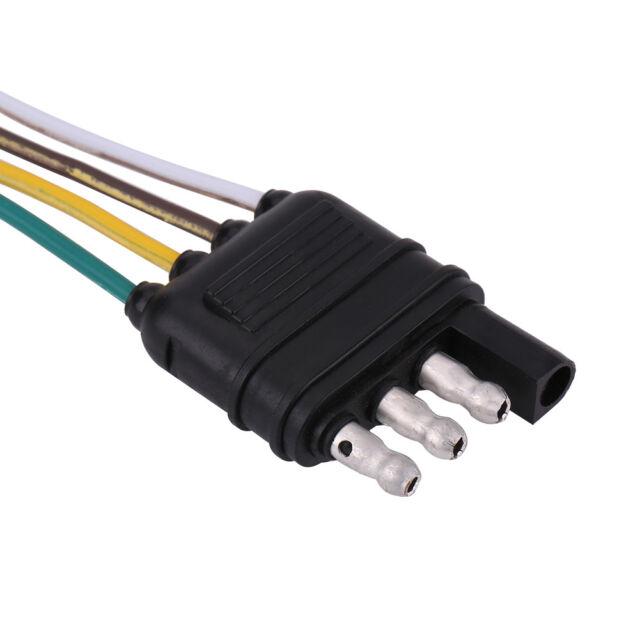 6-24v 4 Pin Flat Trailer Plug Socket Wiring Connector Adapter for Caravan on generator socket wiring, accessories socket wiring, house socket wiring, fuel pump wiring, cigarette lighter wiring, car socket wiring,