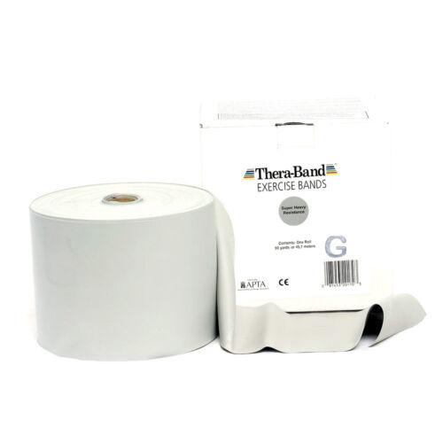 THERA-BAND ® 1,5 m silber Gymnastikband Original Theraband von der Rolle