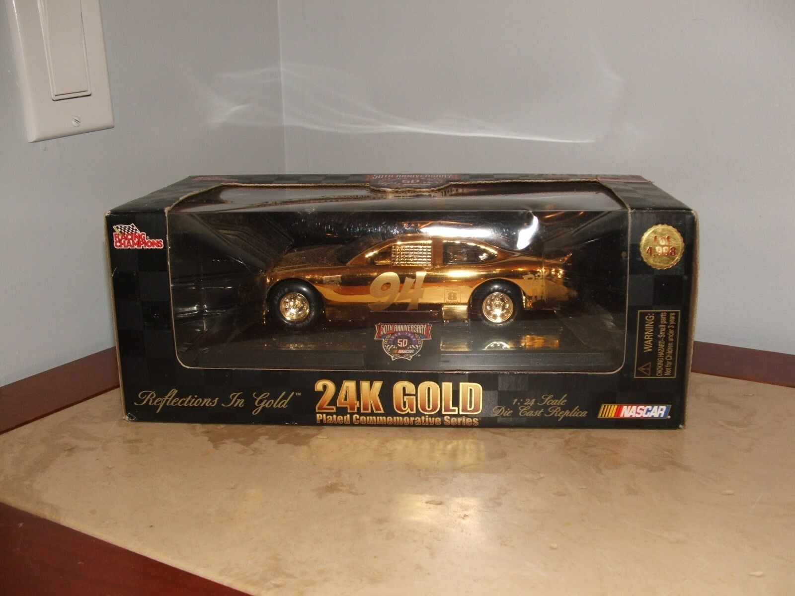NEW Racing Champions Bill Elliott McDonald's 24K gold 1 24 Original Box NIB