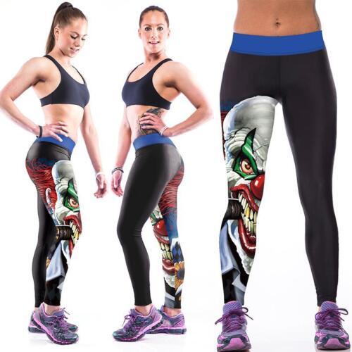 Damen Gym Fitness Yogahose Laufhose Joggers Leggings Skinny Capri Hose Sporthose