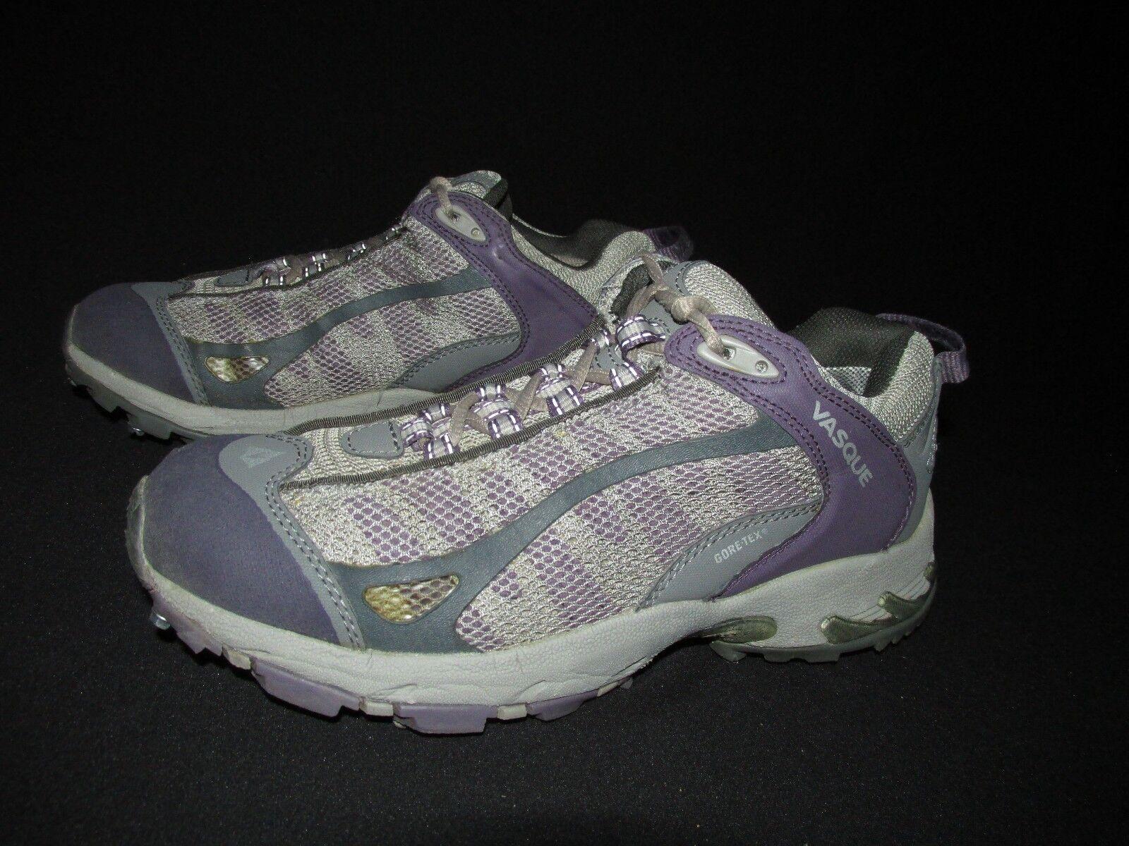 Vasque Gore-Tex Studded Sole Snow Trek Purple Gray Low Boot Shoes Women's US 8M