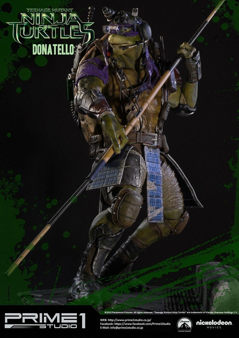 NINJA TURTLES PRIME 1 STUDIO DONATELLO SIDESHOW COLLECTIBLES
