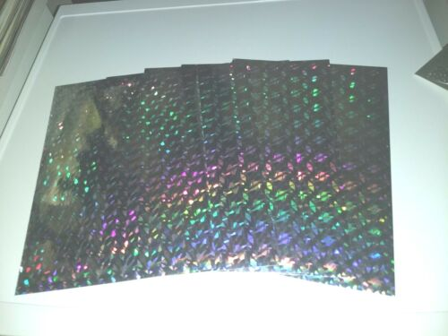 5X HOLOGRAPHIC SILVER PAPER 30X21 CM//1 SIDE// BUY MORE AND GET DISCOUNT NEW